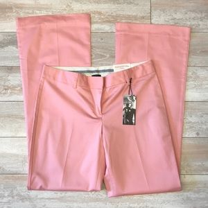 NWT Express Editor Pink Flare Pants Size 6